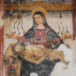 Chiesa di Sant'Antonio Abate affresco della Madonna col Cristo morto
