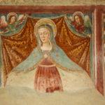 Santuario della Madonna di Filetta affresco della Madonna con San Sebastiano