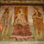 Santuario dell'Icona Passatora affresco della Madonna in trono con bambino 1