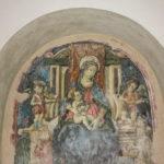 Chiesa di Sant'Agostino affresco della Madonna in trono con bambino
