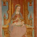 Santuario della Madonna di Filetta affresco della Madonna in trono con bambino