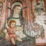 Santuario dell'Icona Passatora affresco della Madonna in trono con bambino