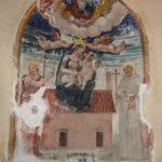 Chiesa di Sant'Antonio Abate affresco della Madonna incoronata col bambino