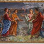 Chiesa Santissimo Crocifisso affresco della parabola delle dieci vergini
