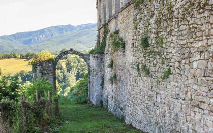 Veduta delle antiche mura
