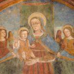 Chiesa di San Martino affresco Madonna con bambino e angeli