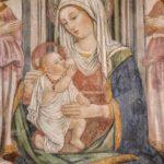 Chiesa di Sant'Andrea affresco della Madonna con bambino