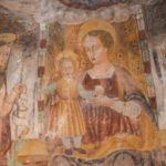 Chiesa di Santa Savina affresco Madonna in trono