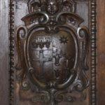 Chiesa di Santa Maria delle Grazie dettaglio cornice lignea intaglio
