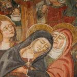 Santuario dell'Icona Passatora dettaglio affresco della crocifissione