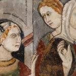 Museo Civico Cola Filotesio dettaglio affreschi storie della vergine