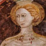 Museo Civico Cola Filotesio particolare affreschi storie della Vergine