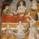 Museo Civico Cola Filotesio dettaglio affreschi storie della vergine 3
