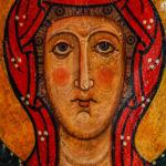Museo Civico Cola Filotesio dettaglio dipinto Madonna in trono sec. XIII