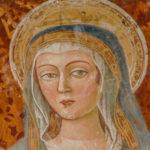 Santuario della Madonna di Filetta dettaglio affresco Madonna