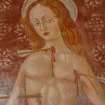 Santuario della Madonna di Filetta dettaglio affresco San Sebastiano