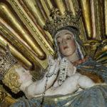 Santuario della Madonna delle Grazie dettaglio della Madonna con bambino
