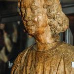 Museo Civico Cola Filotesio dettaglio statua lignea Santa Lucia sec. XVI