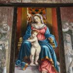 Santuario della Madonna delle Grazie dipinto Madonna in trono con bambino