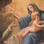 madonna del rosario con bambino e san gabriele chiesa san benedetto