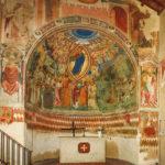 Santuario della Madonna di Filetta pano altare abside affrescato