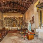 Chiesa di Sant'Antonio Abate dettaglio affresc pano navata pareti affrescate