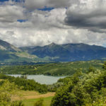 Lago Scandarello vista del lago dalla Salaria