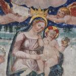 Chiesa di Sant'Antonio Abate particolare dell'affresco della Madonna incoronata con bambino