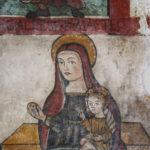 Chiesa di Sant'Antonio Abate particolare della parete affrescata