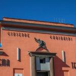 Cinema Teatro Comunale Giuseppe Garibaldi particolare superiore della facciata