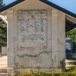Lago Scandarello targa cinquantesimo anniversario sminamento della diga