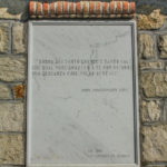 Santuario della Madonna delle Grazie targa in marmo