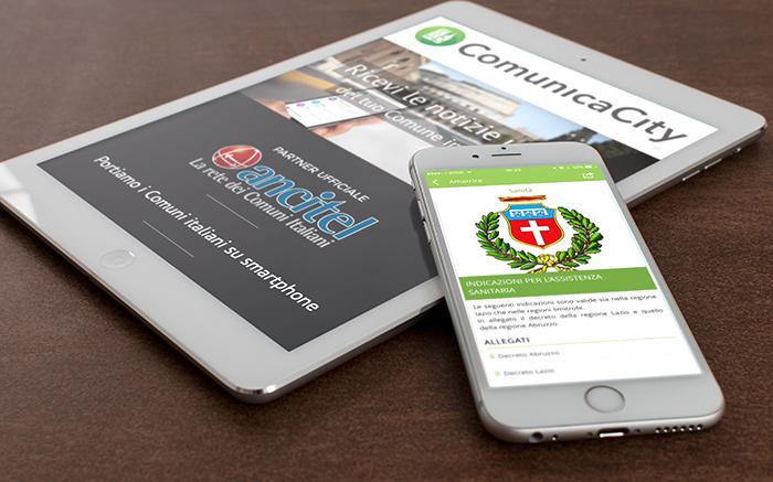 comunicacity la nuo app. per Amatrice